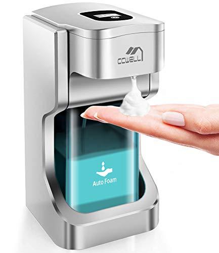 CCWELL Dispensador Automatico Dispensador 500 ml Dispensador Automático de gel Dispensador de gel hidroalcohólico Dispensador de gel hidroalcohólico para baño Cocina Hogar
