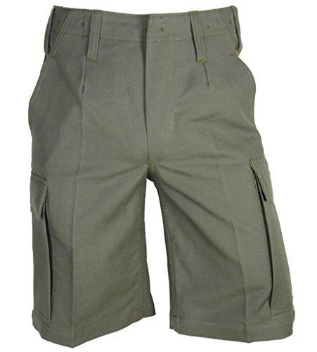 A. Blöchel Kurze Bundeswehr Bermuda Feldhose Molsekin Arbeitshose Shorts 6-11, 58, 60 (8, Steingrau Oliv)