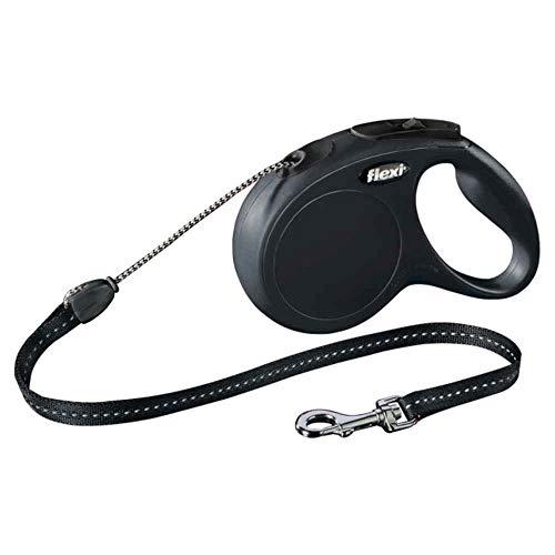 flexi New Classic M Seil 8 m schwarz für Hunde bis 20 kg
