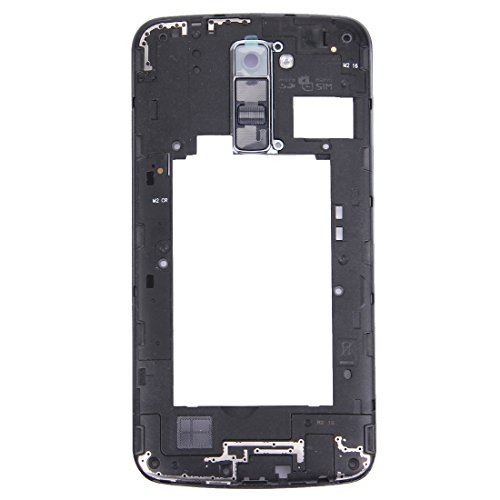 Dmtrab para Panel de Lentes de la cámara de la cámara de la Placa Posterior con el Timbre del Timbre del Altavoz para LG K10 (Negro) Partes de telefonía móvil (Color : Black)