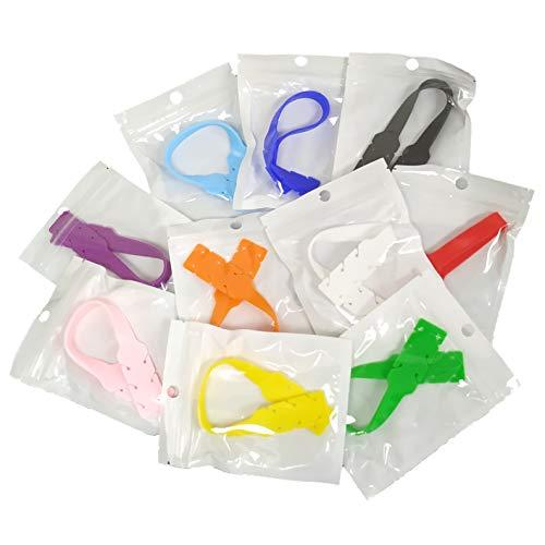 Pack 5x Extensor de las Gomas para Mascarillas. Protector Extensible Ajustable Silicona para Orejas. Color Aleatorio. (Adulto (L))