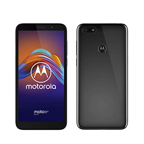 Motorola Moto E6 Play, Display Max Vision HD+ da 5,5', 32GB/2GB RAM, Slot MicroSD, Sensore Fotocamera da 13MP, Android 9.0, Dual SIM, Black