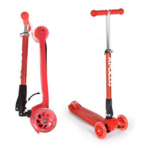 Apollo Fun-Scooter Kids Whiz LED Roller für Kinder ab 3 Jahren, Kinderroller, Kickboard, Tretroller