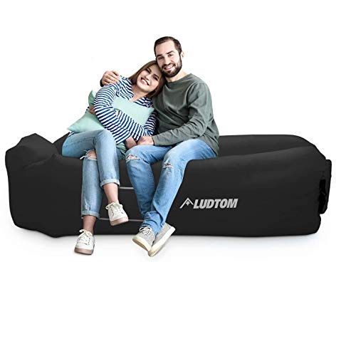 LUDTOM Inflatable Lounger Air Sofa Hammock, 440 lb Portable and Waterproof Ideal Inflatable Pouch...