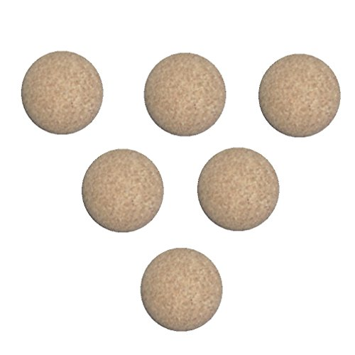 René Pierre Foosball Table Cork Ball Replacement - Natural (Set of 6)