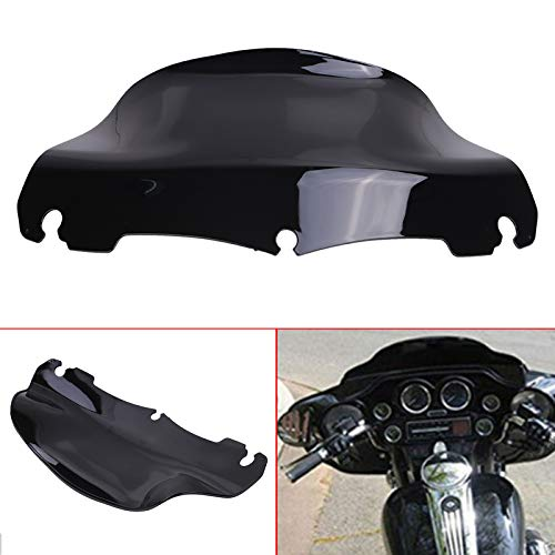 buyinhouse 9 Inch Windshield for Harley Touring FLHT FLHTC FLHX Ultra Classic Street Glide Electra 2014-2019 (Black ABS Wave Windscreen)