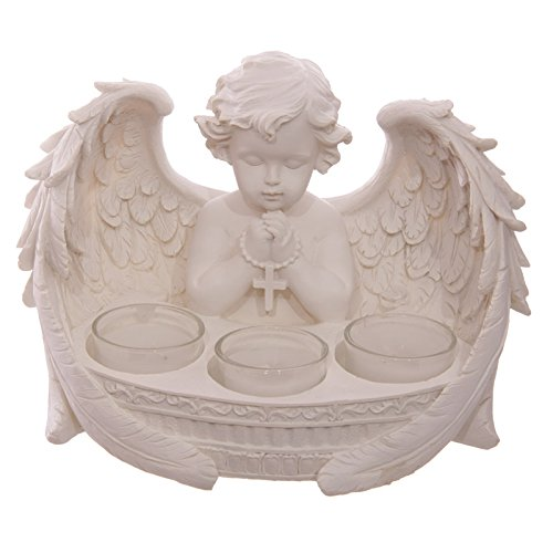 Weies Engelchen Teelichthalter Fr 3 Teelichter