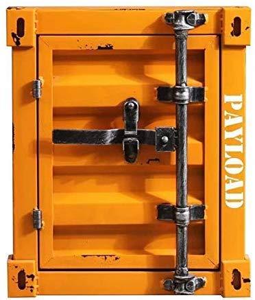 Xanadoo Ufficio Scrivania Cassettiera con Rotelle in Look Eines Überseecontainers - Arancione
