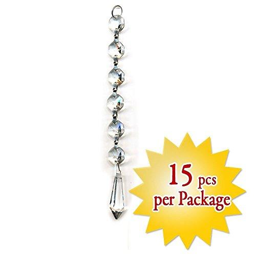 Colormax - Decorazione pendente in cristallo, ideale per matrimoni, 15,24 cm, 15 pezzi, di CrystalPlace