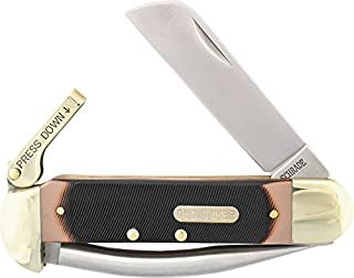 Old Timer 735OT Mariner 6.9in High Carbon S.S. Traditional Lever Lock Folding Pocket Knife with 2.8in Sheepsfoot and Sawcut Blade for Boating and Sailing