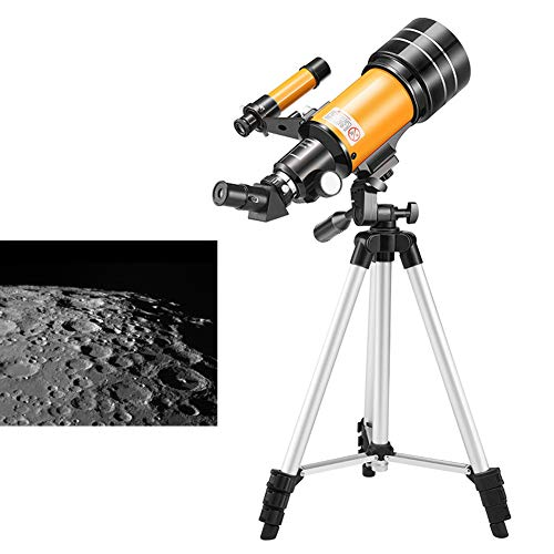 JI TA Refractores Telescopio Catadióptricos para Niños Adultos Principiantes, Telescopio Refractor HD para Astronomía, con Trípode Ajustable, Adaptador para Smartphone con Mochila 3