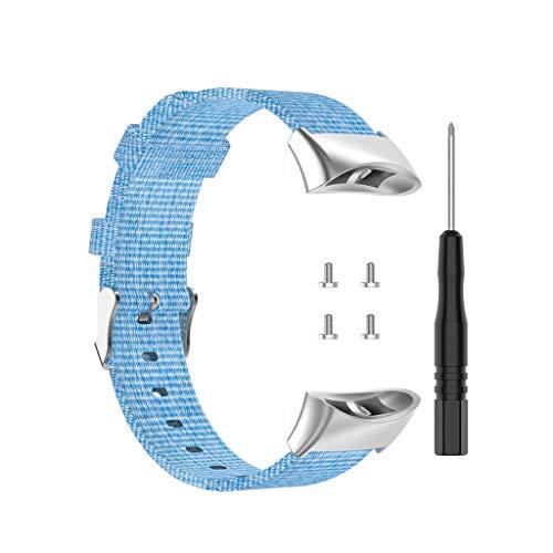 Buwei Reemplazo de Correa de Reloj de Nailon para -Garmin Forerunner 45 45S Swim 2
