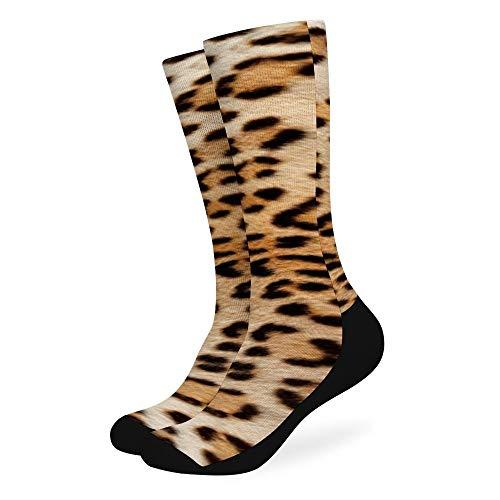 Ye Hua Die Haut eines Leoparden Mode lange Socken Soft Warmer Strümpfe 1 Paar für Frauen und Männer Sport Socken 16,5 Zoll