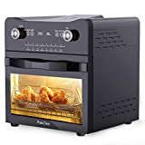 17 Quart Digital Air Fryer, 1800W Convection Oven with Rotisserie and Dehydrator, 16-in-1 Air Fryer Toaster Oven Countertop Oven, LED Touch Digital Screen Oilless Cooker with Full Set Dishwasher Safe Accessories