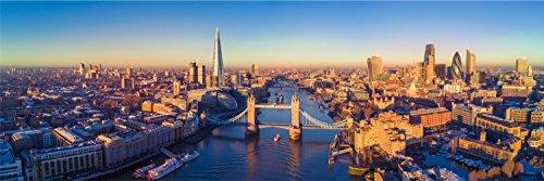 London Skyline Tower Bridge XXL Panorama Wandtattoo Bild Poster Aufkleber W0058 Größe 200 cm x 66 cm