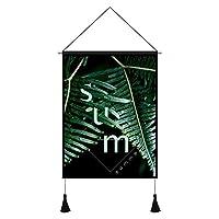ホテルのポスターキャンバス絵画緑の植物ぶら下げ布ベッドサイド研究リビングルーム装飾ぶら下げ画像カフェレストランフラワーショップぶら下げ画像-8_45x65cm