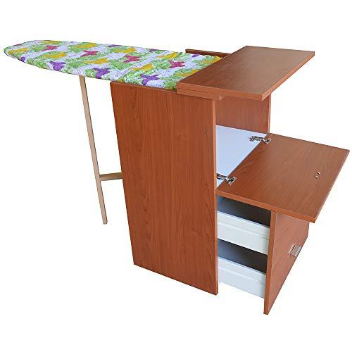 LIBEROSHOPPING.eu – Tu casa en un clik - Mueble con tabla de planchar con 3 cajones (cerezo)