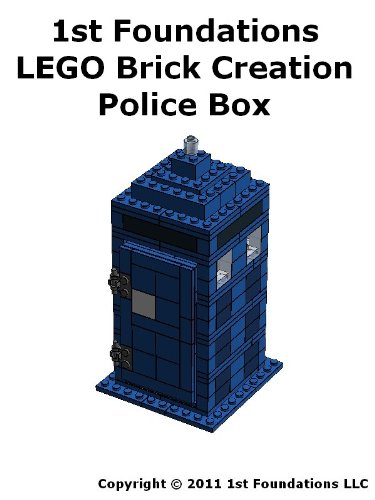 1st Foundations LEGO Brick Creations - Instructions set for a Police Box (English Edition)