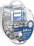 Philips 12342WVUSM WhiteVision Ultra Efecto Xenon H4 Bombilla para Faros Delanteros, 4.200K, Set de 2