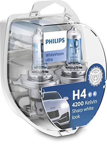WhiteVision ultra effetto Xenon H4 lampada fari, Bianco intenso - 4.200K, confezione doppia