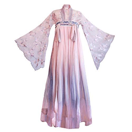 GODNECE hennepjurk cosplay, hennepu Chinese bloemenbottijn busterok hennefu jurk traditionele Chinese jurk cosplay kostuum set -XS Large zoals getoond