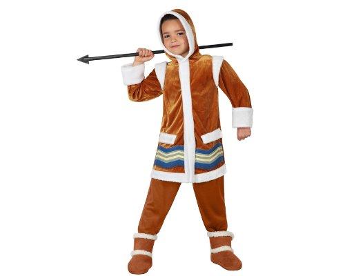 Atosa 23601 - Eskimo jongen kostuum, maat 116, bruin