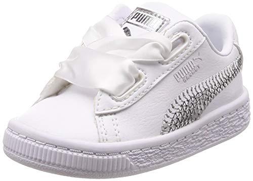 Puma Basket Heart Bling Zapatos para Niña Blanco 36684902 (24 EU)