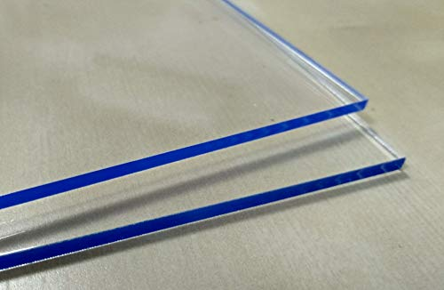 Laserplast Hoja de metacrilato transparente 5mm A4 DINA4 (210 x 297 mm) - Varios tamaños A1 A2 A3 A4 A5 - Placa Acrilico transparente - Plancha Metacrilato - Lamina plástico - PMMA