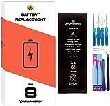 ultrapower100® Batería de reemplazo para iPhone 8 | Original Capacidad | 2019 | Incluye Manual de reparación y Kit Profesional de Juego de Herramientas | Nueva Batería de sustitución | 0 Ciclos