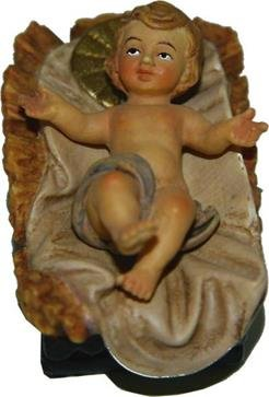 Miniatur Modell Figur Jesuskind im Barren 2tlg. 3,5cm, handbemalen
