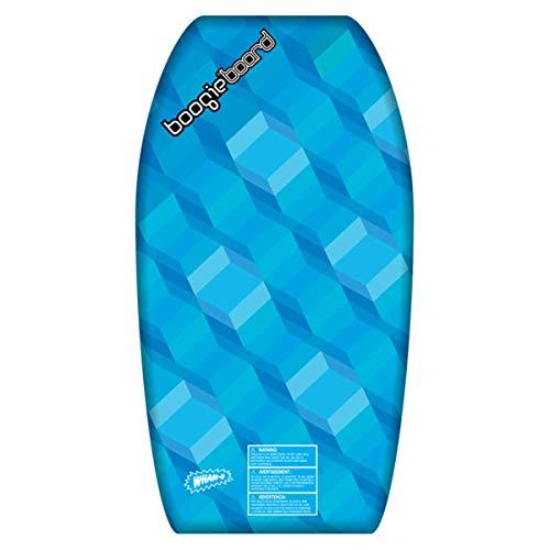 "Wham-O Boogie Board 33 Inch Bodyboard | Fiberclad Cover with Phuzion Core | Premium Wrist Leash Included | Slick Body Bottom | Surfboard for Ocean, Sea, River, Pool (33"", Blue)"