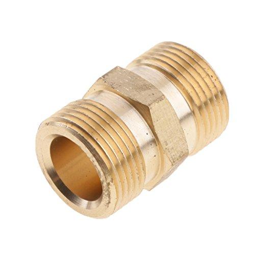 Hochdruckreiniger Kupplung Stecknippel Schnellkupplung Schlauchanschluss Stecker Adapter Stecktuellen/Schlauchtuelle Schlauchanschluss Male M22x1.5 Socket Kupplung - 15 mm