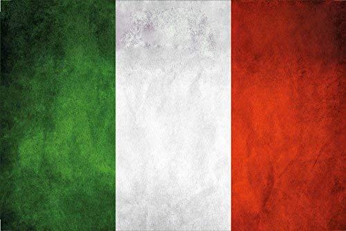 Italiaanse vlag paviljoen blikken bord tin 20 x 30 cm