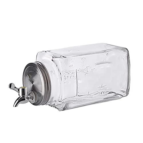 DMKYDM Lemonade Sangría Té Agua Bebida Jar Jar Jar Jar, espita de Acero Inoxidable Spigot Amplio Boca Fácil Relleno Dispensador de Bebidas con Cilindro de Hielo Mantiene la Bebida fría para