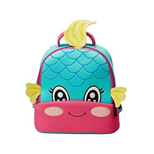 DURIAN MANGO Kinderrucksack Kindergarten Umhängetasche 3D Stickerei Niedlichen Cartoon Einhorn Tauchen Material Kinder Schultasche,style6