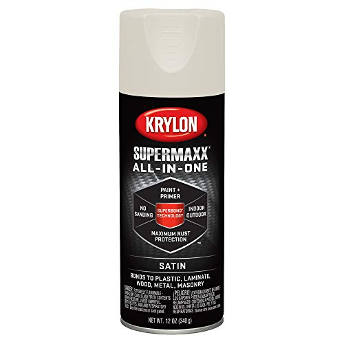 Krylon K08974007 SUPERMAXX Spray Paint, Satin Black
