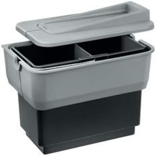 Blanco Singolo-s Abfallsorter Abfalleimer Mülleimer Abfallsammler, Metall, Kunststoff, schwarz/grau, 36 x 22 x 34,5-36,5