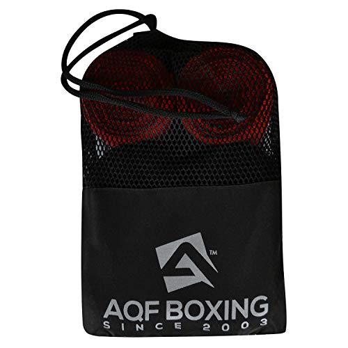 AQF Boxbandagen Für Kampfsport Boxhandschuhe Innerer Handschuhe Schutz (Packung mit 3 Paaren in Mehreren Farben) 4.5m Bandagen Boxen mit Tragend Tasche