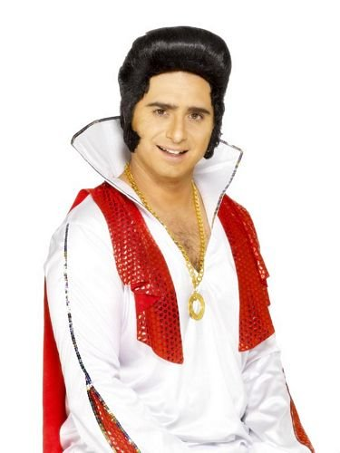 SMIFFY´S Original Elvis Presley Per�cke Kotletten Perr�cke