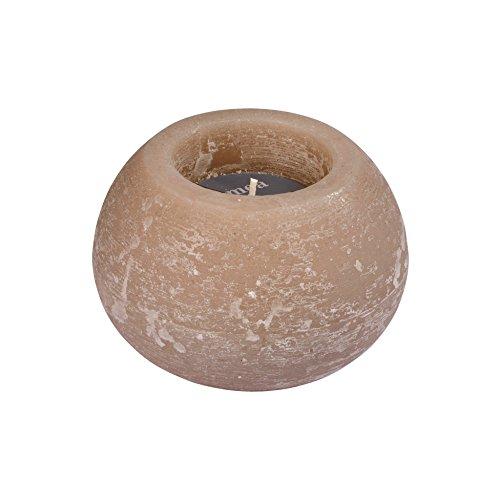homea 6bpb006tf kaars bal paraffine taupe donkerblauw 13 x 13 x 8,69 cm