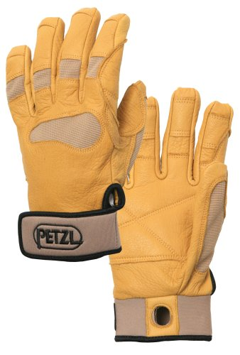 Petzl K53ST Cordex Plus Belay/Rappel Handschuh, klein, hellbraun