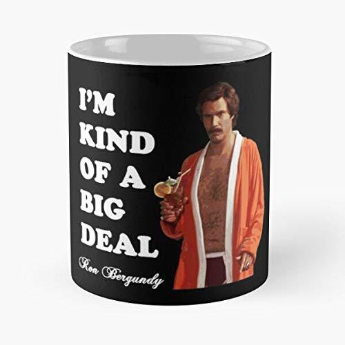The Continues Film Legend Comedy Movie Anchorman Ferrell Cult Will Best Taza de café de cerámica de 11 onzas