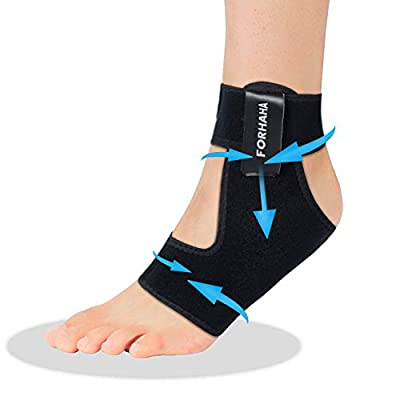 Ankle Support Brace - Adjustable Compression Ankle Support Wrap for Plantar Fasciitis, Foot & Ankle Swelling, Breathable Neoprene Sleeve for Women & Men(Single)