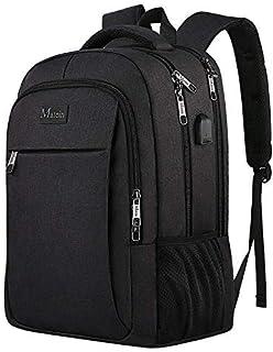 MATEIN Ryggsäck för resor, bärbar dator, arbetsväska, lätt laptopväska med USB-laddningsport, stöldskydd, affärsryggsäck, ...