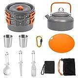 yidenguk Kit de Utensilios Cocina Camping, Juego de Cocina al...