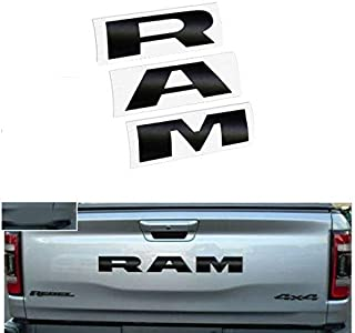 1pc RAM Grille Front Decal Sticker Letters Replacement Fit for 2019 Ram Rebel Carbon Fiber