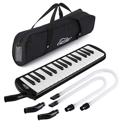 Eastar 32 Key Melodica Instrument Keyboard Soprano With Mouthpiece ,Carrying Bag Black