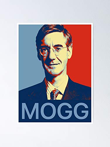 """guyfam Jacob Rees-mogg - Aka """"the Mogg Father†Bernard Fairey-Inspired Campaign Graphic Poster 11.7x16.5 Inch Frame Board for Office Decor, Best Gift Dad Mom Grandmother and Your Friends"""