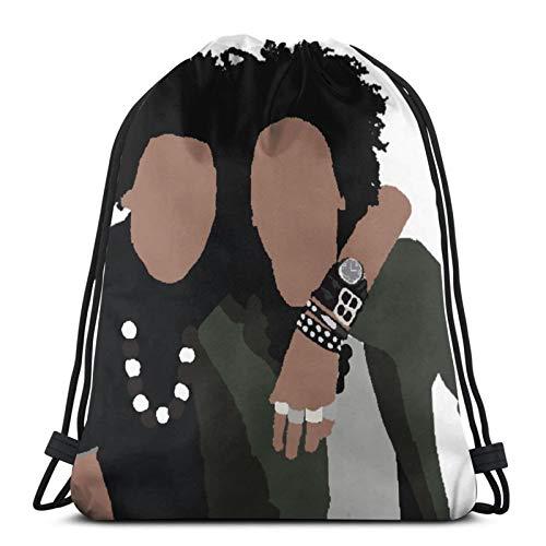 Les Twins Minimalist Pullover Hoodie -(1) Drawstring Bag Sports Fitness Bag Travel Bag Gift Bag