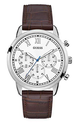Guess Reloj Multiesfera para Hombre de Cuarzo con Correa en Cuero GW0067G2